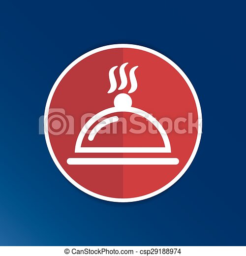 Food platter serving sign icon logo food tableware - csp29188974