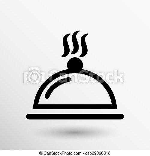 Food platter serving sign icon logo food tableware - csp29060818