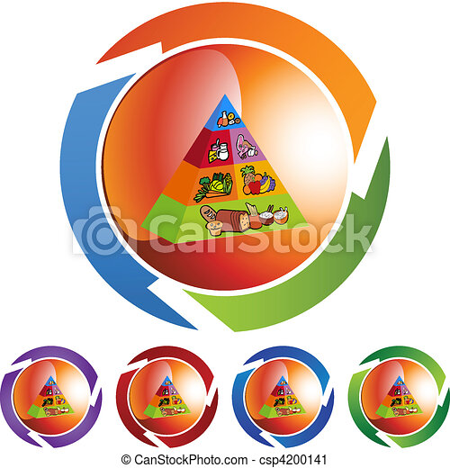 Food Pyramid - csp4200141