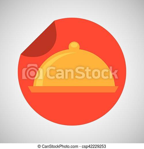 food serving platter icon design - csp42229253