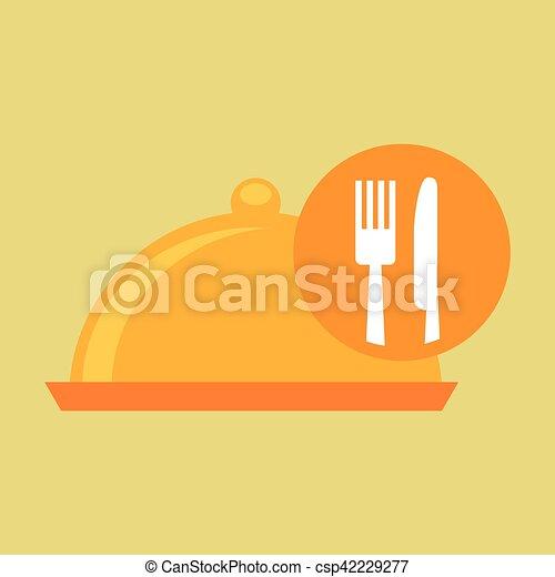 food serving platter icon design - csp42229277