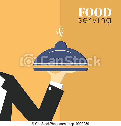 Food serving tray platter - csp19092289