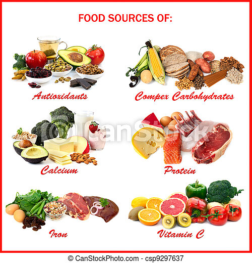 Food Sources of Nutrients - csp9297637