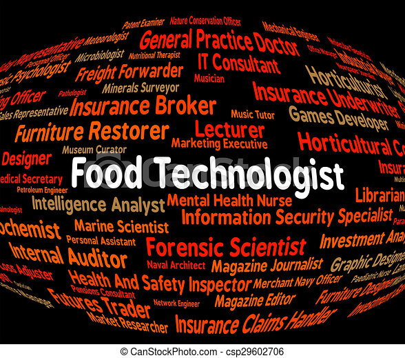 Food Technologist Indicates Eating Job And Foods   Csp29602706