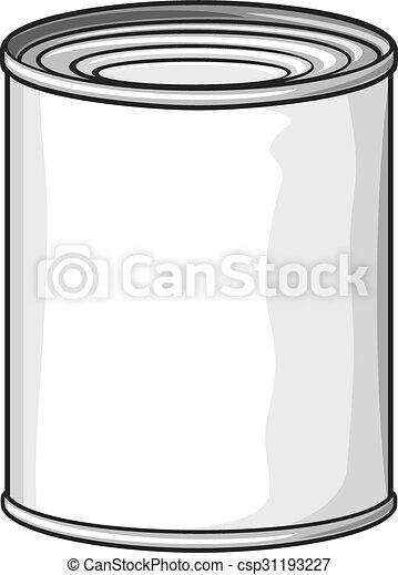 food tin can (metal tin can) - csp31193227