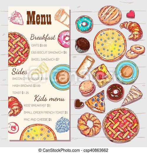 Food top view menu template food top view menu template with price food top view menu template csp40863662 maxwellsz