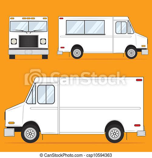 Food Truck Blank - csp10594363