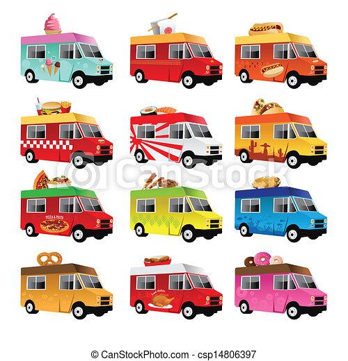 A Vector Illustration Of Food Truck Icon Designs Eps Vectors