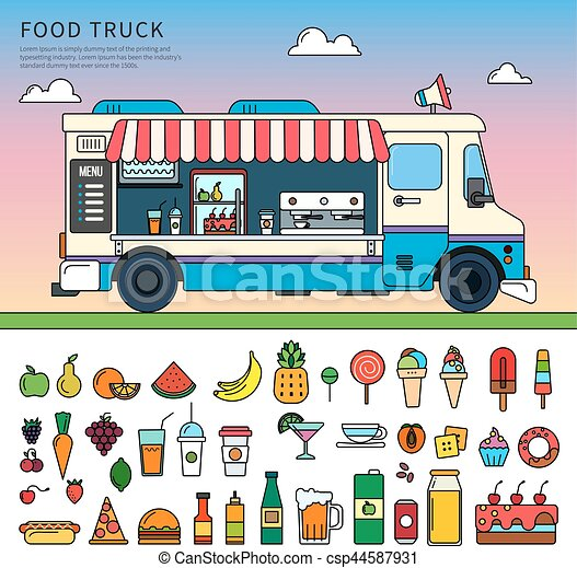 Food truck on the street - csp44587931