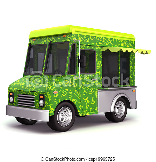 Food Truck Organic Stock Illustration