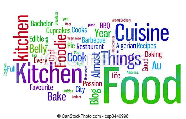 food words white - csp3440998