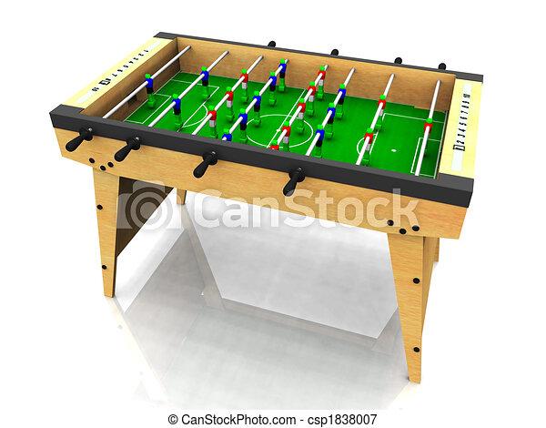 foosball, table. - csp1838007