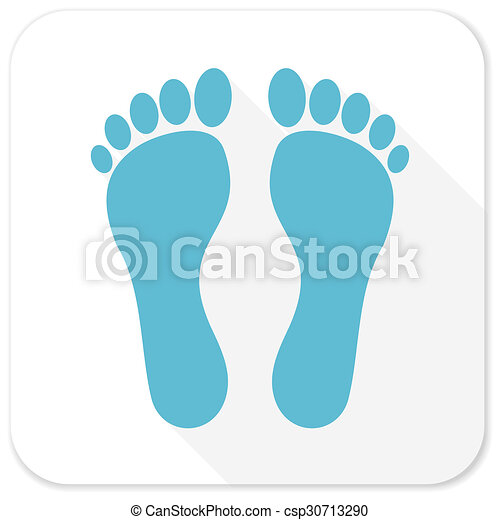 foot blue flat icon - csp30713290