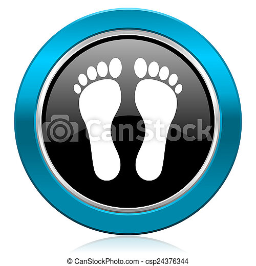 foot glossy icon - csp24376344