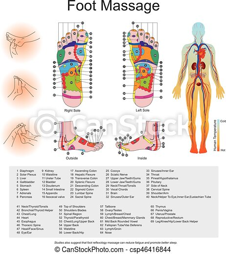 Foot Massage While Various Types Of Reflexology Related Massage
