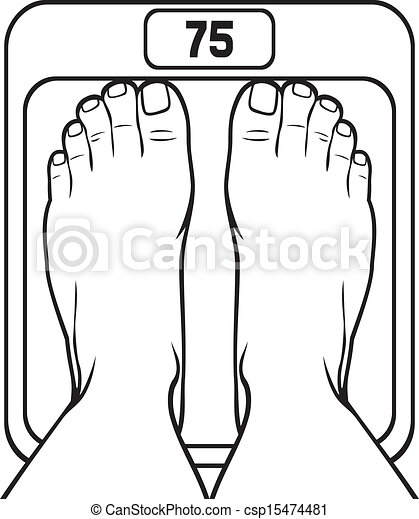 foot on the scale - csp15474481