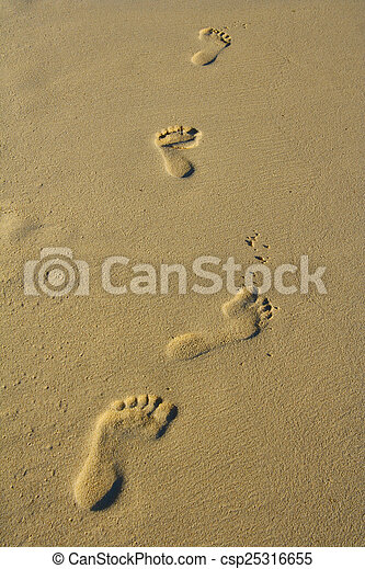 Foot prints - csp25316655
