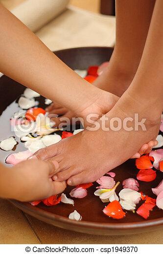 Foot spa & massage - csp1949370