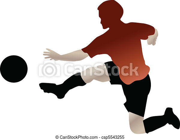 footbal player in action - csp5543255