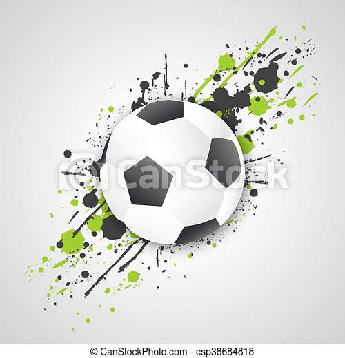 (football, ボール, グランジ, effect., vector., ball), サッカー - csp38684818