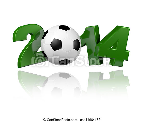 Football 2014 design - csp11664163