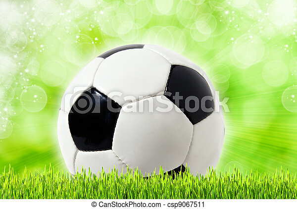 Football abstract backgrounds with unfocused bokeh - csp9067511