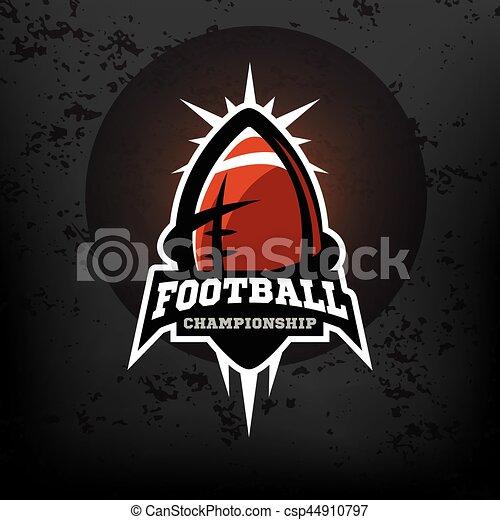 football américain, logo., championnat - csp44910797