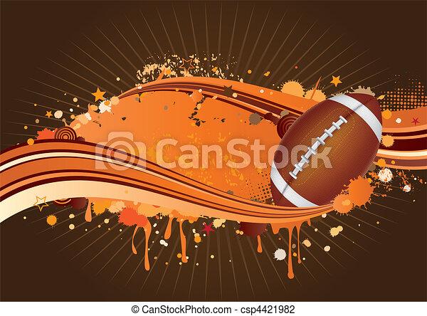 football, amérique, fond - csp4421982