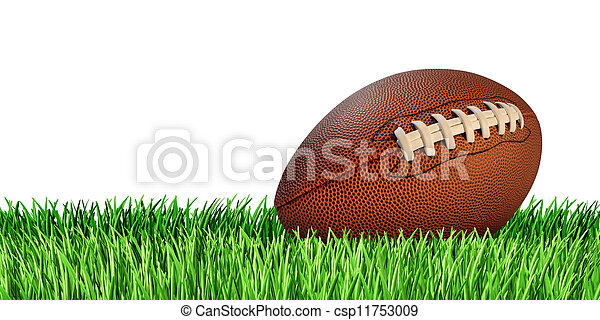 Football And Grass Isolated - csp11753009