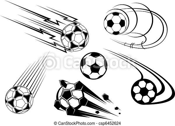 Football and soccer symbols and mascots - csp6452624