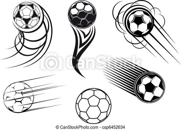 Football and soccer symbols and mascots - csp6452634