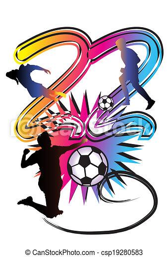 football art number 22 illustration kick flag football stock rh canstockphoto com
