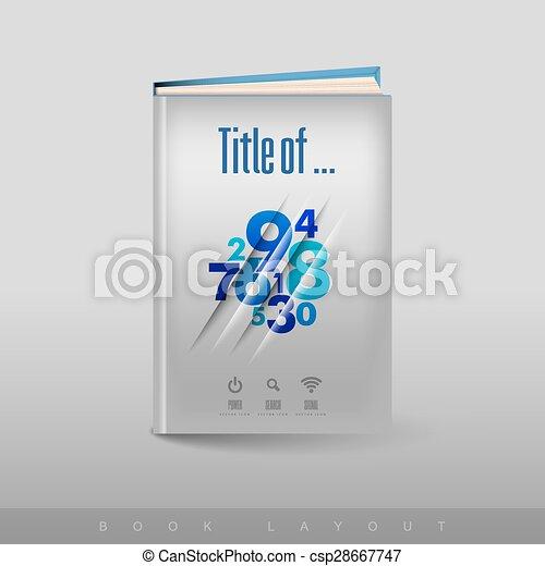 football, astratto, moderno, book., tema, opuscolo - csp28667747