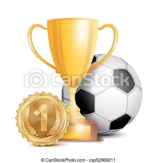 football award vector sport banner background ball gold winner