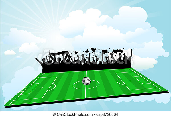 Football background. Football pitch background with ...