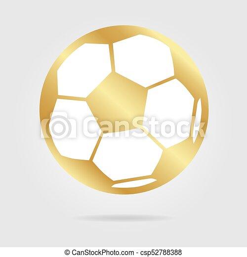 Football ball gold logo isolated - csp52788388