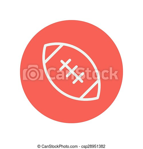 Football ball thin line icon - csp28951382