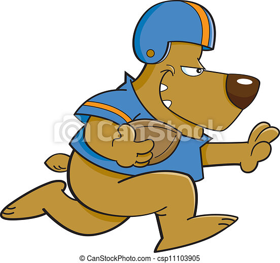football bear cartoon illustration of a bear playing vector rh canstockphoto com bear vector illustration bear tattoo vector