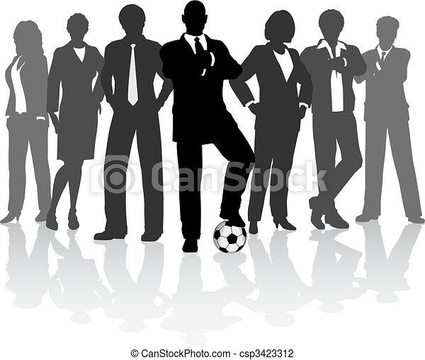 Football business team - csp3423312