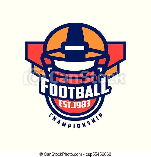Football championship logo template american football emblem est football championship logo template american football emblem est 1983 sport team insignia vector maxwellsz