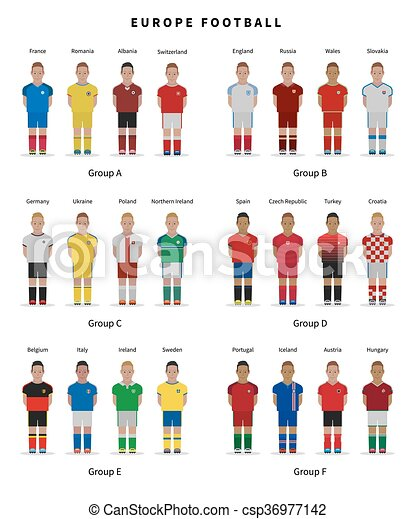 Football championship. National team players uniform. Soccer. - csp36977142
