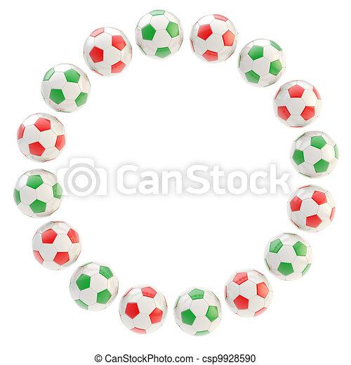 Football circle frame background isolated. Football circle frame ...