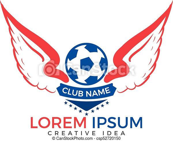 Football club emblem or soccer sport team logo design winged soccer football club emblem or soccer sport team logo design csp52720150 maxwellsz