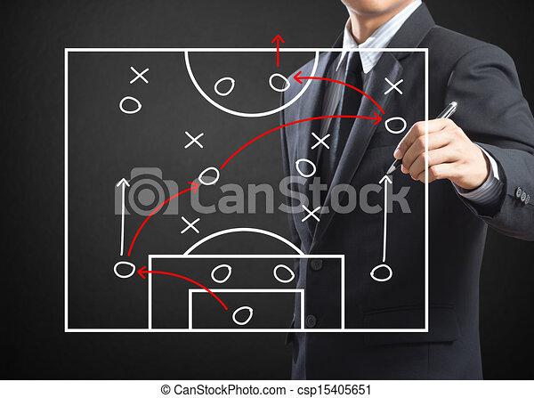Football coach writing strategy - csp15405651