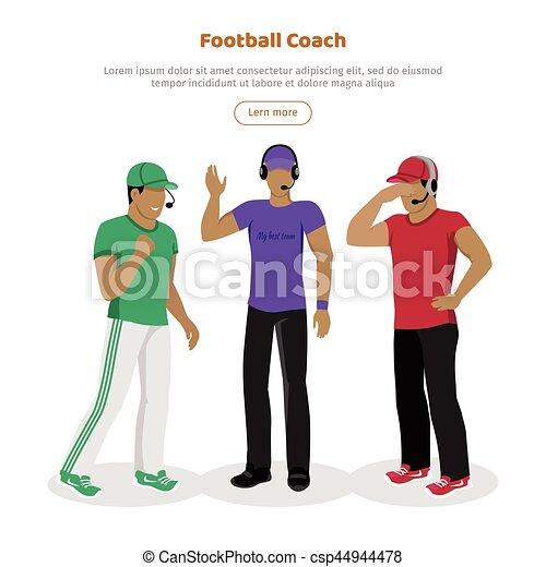 Football coaches web banner cartoon soccer referee. Football coaches ... f199ba417dd