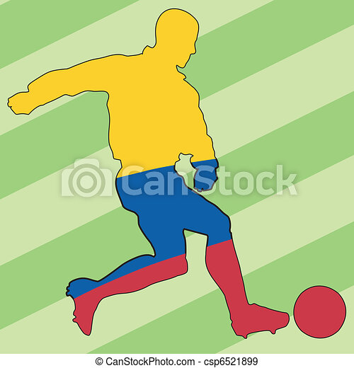football colors of Colombia - csp6521899
