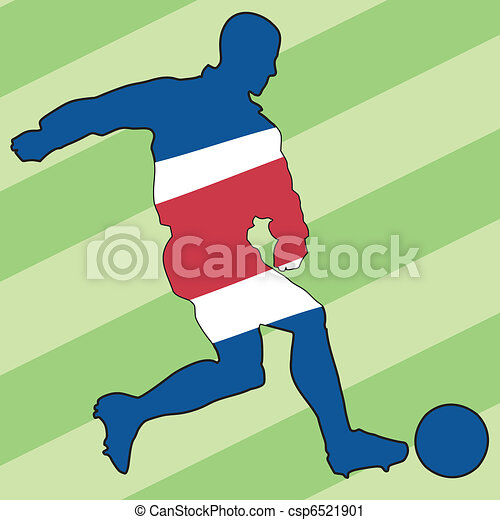football colors of Costa Rica - csp6521901