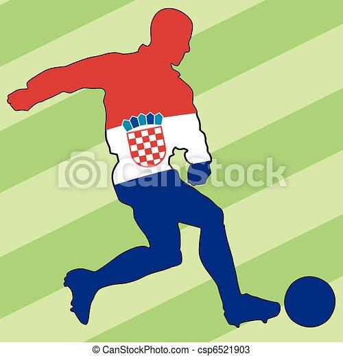 football colors of Croatia - csp6521903