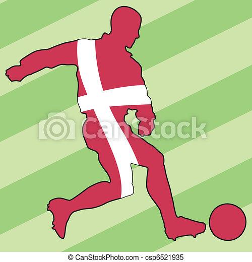 football colors of Denmark - csp6521935