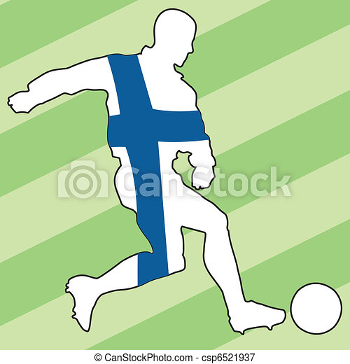 football colors of Finland - csp6521937